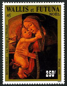 Wallis & Futuna 346, MNH. Christmas. Virgin and Child, by Sandro Botticelli,1986