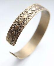 Antique Golden Tone Decorated Hand Bracelet