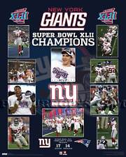 New York Giants Super Bowl 42 Championship Picture Plaque