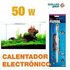 Calentador Electrónico Sumergible Fluval M 50W alta calidad acuario gambario