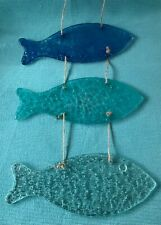 Lovely Art Glass 3 fish wall hanging