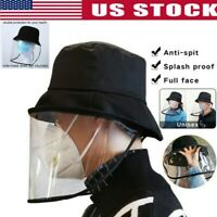 Fisherman Cap + Protective Clear Mask Saliva-proof Dust-proof Sun Visor Hat US L