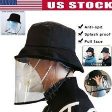Fisherman Cap + Protective Clear Saliva-proof Dust-proof Sun Visor Hat US L