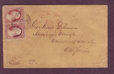 Murphy's Camp CALIFORNIA Cover from Boston MASS - PAID Cancel TIES US# 11 PAIR !