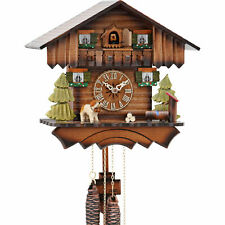 Original German Cuckoo Clock 1-day-movement Chalet-Style 24cm by Hekas