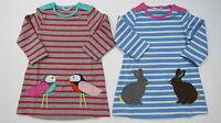BODEN GIRLS CUTE APPLIQUE DRESS BIRDS OR RABBITS 0-3-6-12-18-24-2-3 BNWOT