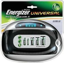 New Energizer Universal Rechargable AA AAA C D Battery Charger ENERUNIVCHG