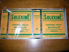 SOLEX  AUTOCOLLANT  POUR BIDON SOLEXINE JAUNE (en 1 piéce)
