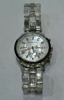 Michael Kors Womens Chronograph Watch• Clear Acrylic• Pearl• Stainless• MK5235