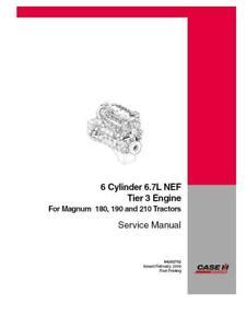 CASE IH 6 CYLINDER 6.7L NEF ENGINE SERVICE MANUAL