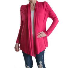 NEW!!! DRESSIS Women's Open Front Drape Long Sleeve Cardigan Fuschia Medium!!!