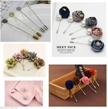 DIY 20Pcs Silver Plated Safety Pin Brooches Findings Jewelry Accessories 76mm