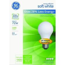 12- NEW GE 72/W= 100 Watt Energy Efficient Soft White 1490 Lumens A19 Light Bulb