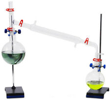Complete Vacuum Distillation Glassware Kit - w/stands, clamps. Fast shipping!