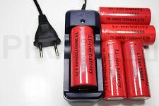 5 PILE RECHARGEABLE 7200mAh 26650 3.7V Li-ion BATTERIE BATTERY + CHARGEUR GTX-08
