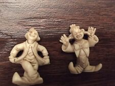 "Vintage Clown Figures Made In Hong Kong 1.5"" toy - set of 2 (70s?)"