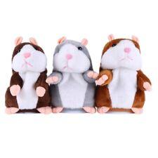 Sprechende Hamster Neu Kuscheltier Plüschtier Spielzeug Talking Maus DJ Rap Toy