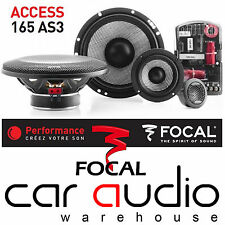 "Focal 165AS3 ACCESS 6.5"" 16.5cm 160 Watt 3-Way Component Kit Car Stereo Speakers"