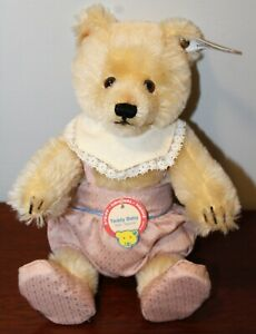 Jointed Steiff Blonde Teddy Baby 1930 Replica with Tags and Button/407529