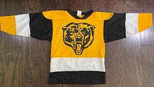 Vintage Chicago Bears NFL Football NHL Hockey Jersey Youth Size Medium Vtg Blank