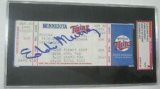 1995 Full Ticket June 30 Indians Eddie Murray Autographed 3000th Hit SGC Slabbed
