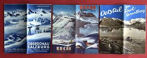 3 x Reise Prospekt Österreich 1938/39/40 Oberdonau Salzburg Lech Arlberg( F19997