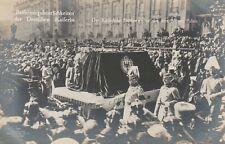 AK Beisetzung der Deutschen Kaiserin Leichenwagen vor dem neuen Palais 1921
