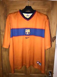 Barcelona Away Football Shirt 1998/00 Nike Barca La Liga Size XXL Good Condition