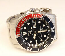 Mens Seiko 5 Sports 23 Jewels No. 7S36C Stainless Automatic Pepsi GMT Watch