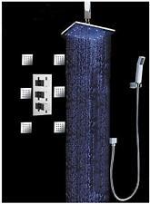 """Bathroom Shower Head  Set 12"""" Water Power LED (Ceiling) Rainfall Spray - Chrome"""