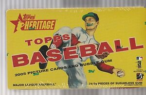 2005 Topps Heritage Baseball Box Factory Sealed In Plastic LAST BOX!