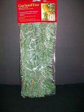 10 Pack Garland Twist Ties Strap Wrap Bannister Railing Christmas Decor