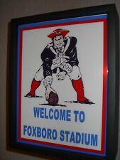 New England Patriots Stadium Throwback Football Bar Man Cave Lighted Sign