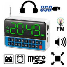 REVEIL HORLOGE NOMAD AVEC RADIO LECTEUR USB CARTE MICROSD SUR BATTERIE B