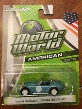 Greenlight Motor World Series 15. 1965 Shelby Cobra 427 S/C Blue