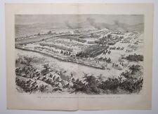 The Zulu War Lord Chelmsford's Last Victory Ulundi July 4 1879 Double Page Print