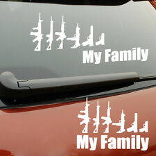 Funny Gun My Family Sticker Decal Laptop Vehicle Car Truck Bumper Window Wall