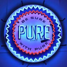 Pure Gasoline Neon Sign - Gas & Motor Oil - Union - Pennsylvania - Be Sure