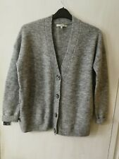 Women Size S 8 - 10 Grey Long Sleeved Buttoned Cardigan NEXT