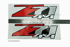 """Red Sivler Sticker """"Z71 4x4"""" Decal Fit Chevrolet Chevy Holden Colorado 2006-2011"""