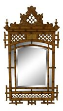 31867Ec: Maitland Smith Chinese Chippendale Style Beveled Mirror ~ New