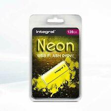 Integral 128GB USB memory stick Neon Yellow Hi-Speed flash drive 2.0