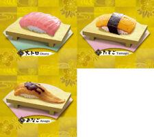 Re-Ment Petit Sample Nigiri Sushi Fatty Tuna Anago Eel Tamago Egg 3 Figure Set