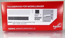Herpa 084529 maleta hummer con palettenkastenlkw 2 trozo scale 1 120 nuevo embalaje original