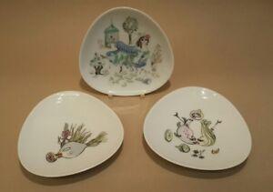 Rare German Porcelain Kunstabteilung Rosenthal Bele Bachem Dishes Mid Century