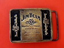 1970's VTG Jim Beam Kentucky Straight Bourbon Whiskey Belt Buckle