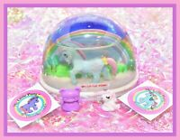 ❤️My Little Pony MLP G1 Vtg SNOW GLOBE Scene Bow Tie Merchandise Merch RARE❤️