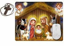 Jesus Christ in a Manger Baby Jesus Mouse Pad Christian Religion, ToyMP:204