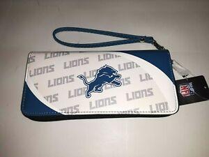 Detroit Lions NFL Curve Zip Organizer Ladies Wallet