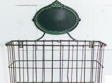 HANGING WIRE WALL BASKET POCKET w/CHALKBOARD Kitchen Bath Decor